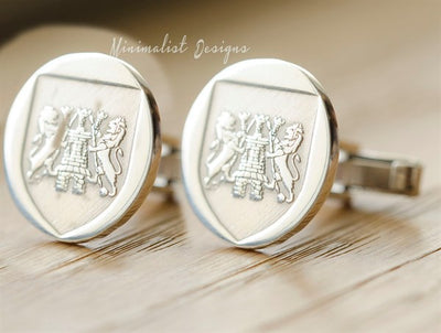 Family Crest Cufflinks-Minimalist Designs