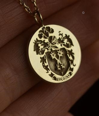 Personalized Family Crest Necklace