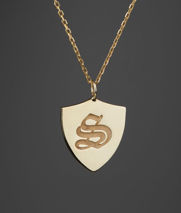 Custom Made Shield Necklace-Minimalist Designs