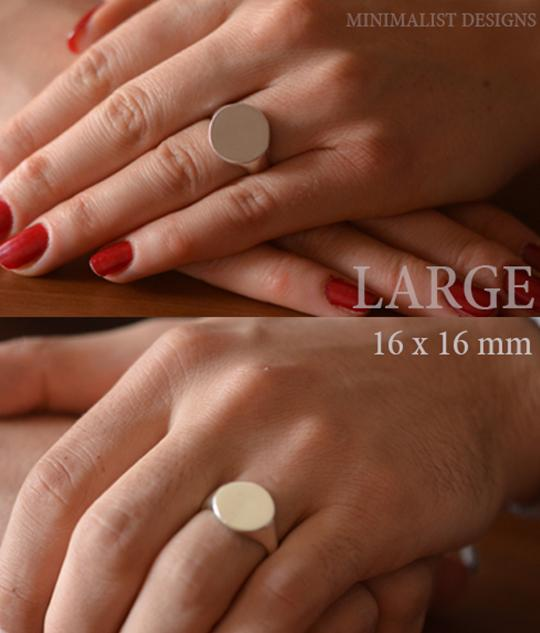 Personalized Block Monogram Signet Ring-Minimalist Designs