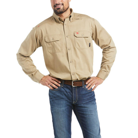 ARIAT® FR Solid Work Shirt - Men's - Multiple Sizes - Multiple Colors