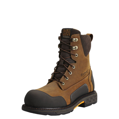 "ARIAT® OverDrive XTR 8"" Side Zip Steel Toe Work Boot - Men's - Aged Bark - Multiple Widths - Multiple Sizes"
