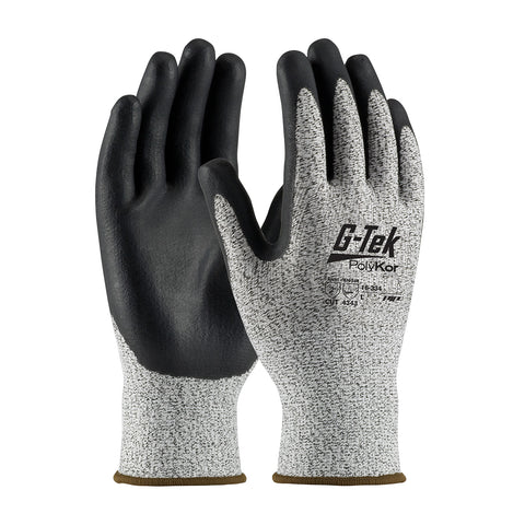 PIP® G-TEK® Polykor® Seamless Knit Blended Glove w/Nitrile Coated Foam Grip - Unisex - Heather