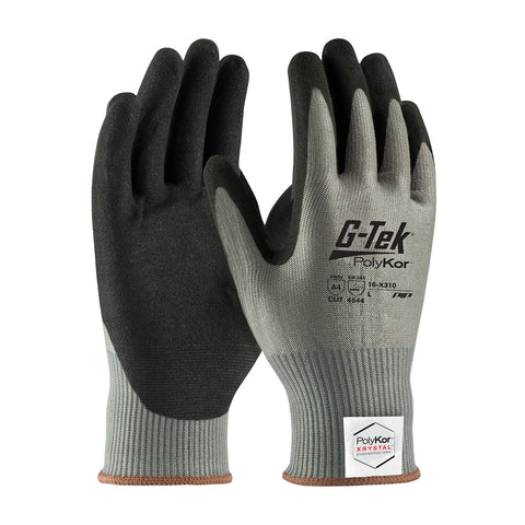 PIP® G-Tek® PolyKor® Xrystal® Seamless Knit Blended Glove w/Nitrile Coated MicroSurface Grip - 16-X310