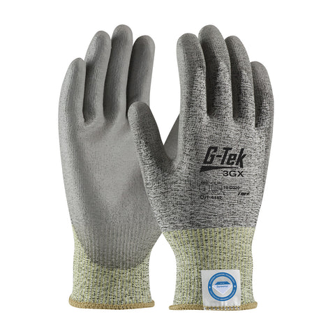 PIP® G-Tek® 3GX Seamless Knit Dyneema® Diamond Blended Glove w/Polyurethane Coated Smooth Grip - 19-D320
