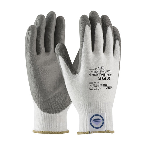 PIP® Great White Seamless Knit Dyneema® Diamond Blended Glove w/Polyurethane Coating - 19-D322