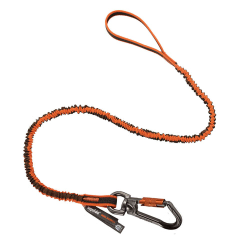 ergodyne® Squids® 3109F(x) Double-Locking Single Carabiner Tool Lanyard w/Swivel