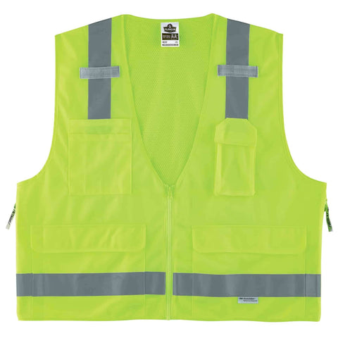 ergodyne® GloWear® 8250Z Type R Class 2 Surveyors Vest - Unisex - Multiple Sizes/Colors