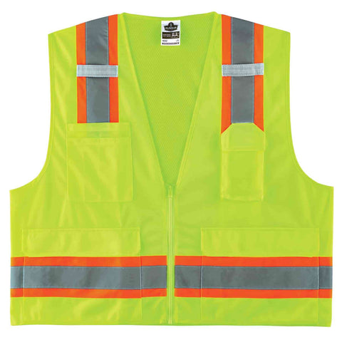 ergodyne® GloWear® 8248Z Type R Class 2 Two-Tone Surveyors Vest - Unisex - Multiple Sizes/Colors
