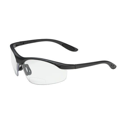 PIP® Mag Readers™ Semi-Rimless Safety Readers w/Black Frame - Clear Lens & Anti-Scratch Coating - +2.50 Diopter - OSFA
