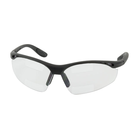 PIP® Double Mag Readers™ Semi-Rimless Safety Readers w/Black Frame & Clear Lens - Dual +1.50 Diopter - 250-25-1515
