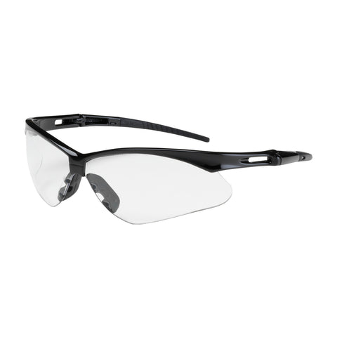 PIP® Anser™ Semi-Rimless Safety Glasses w/Black Frame - Clear Lens & Anti-Scratch Coating - OSFA
