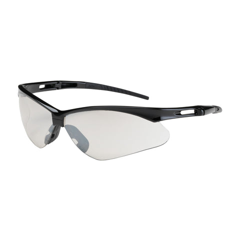 PIP® Anser™ Semi-Rimless Safety Glasses w/Black Frame - I/O Lens & Anti-Scratch Coating - OSFA