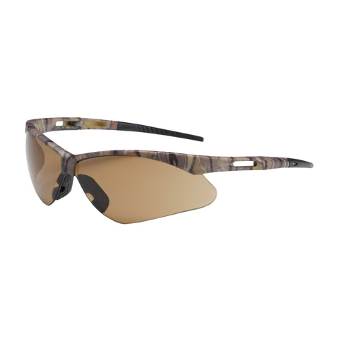 PIP® Anser™ Semi-Rimless Safety Glasses w/Camouflage Frame - Brown Lens & Anti-Scratch Coating - Unisex - OSFA