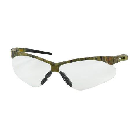 PIP® Anser™ Semi-Rimless Safety Glasses w/Camouflage Frame - Clear Lens & Anti-Scratch/Anti-Fog Coating - Unisex - OSFA