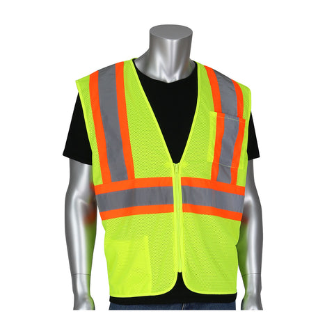 PIP® ANSI Type R / Class 2 Self-Extinguishing Value Mesh Vest - Unisex - Multiple Colors