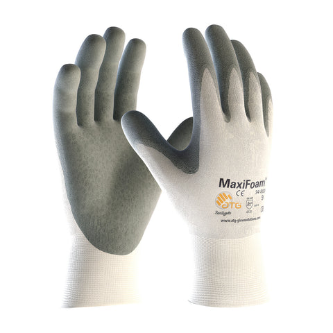 PIP® MaxiFoam® Premium Seamless Knit Nylon Glove w/Nitrile Coated Foam Grip - Unisex - White