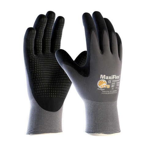 PIP® MaxiFlex® Endurance™ Seamless Knit Nylon Glove w/Nitrile Coated MicroFoam Grip - Micro Dot Palm - Unisex - Grey