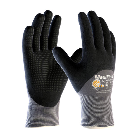 PIP® MaxiFlex® Endurance™ Seamless Knit Nylon Glove w/Nitrile Coated MicroFoam Grip - MicroDot Palm - Unisex - Grey