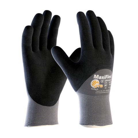 PIP® MaxiFlex® Ultimate® Seamless Knit Nylon/Lycra Glove w/Nitrile Coated MicroFoam Grip - 34-875