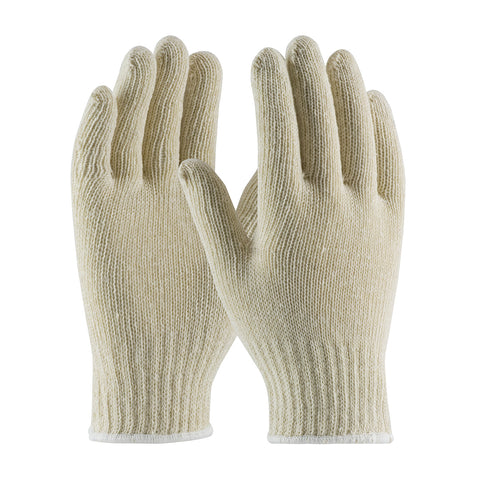 PIP® Standard Weight Seamless Knit Cotton/Polyester Glove - 7 Gauge - Unisex - White