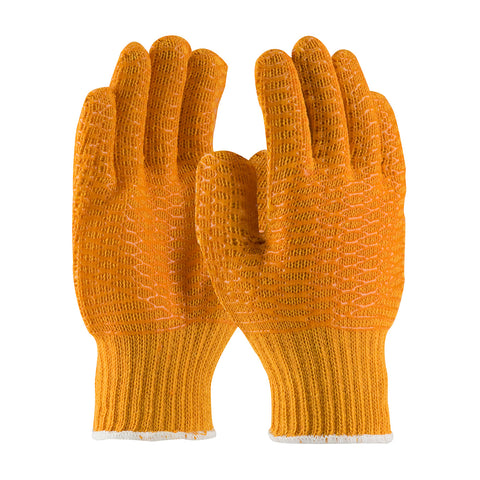 PIP® Seamless Knit Polyester Glove w/Double-Sided PVC Honeycomb Criss-Cross Grip - 39-3013