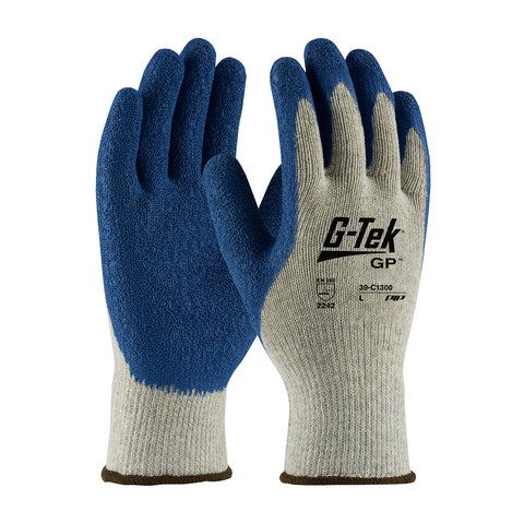 PIP® G-Tek® GP™ Seamless Knit Cotton/Polyester Glove w/Latex Coated Crinkle Grip - Premium Grade - Unisex - Grey