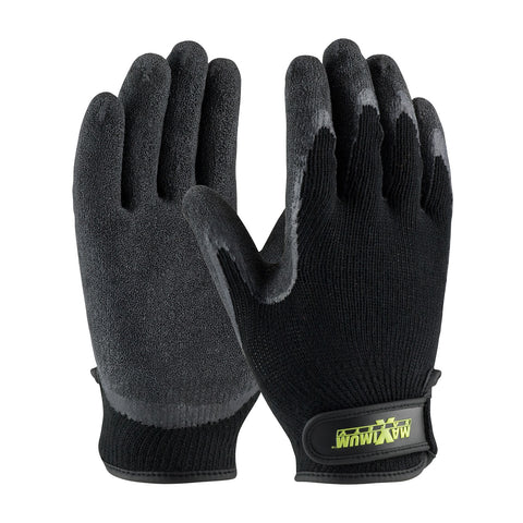 PIP® Maximum Safety® Seamless Knit Cotton/Polyester Glove w/Latex Coated Crinkle Grip - 39-C1375