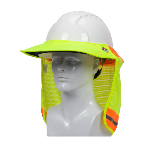 PIP® EZ-Cool® FR Treated Hi-Vis Hard Hat Visor & Neck Shade - 396-801FR