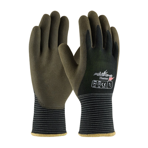 PIP® PowerGrab™ Thermo W Seamless Knit Polyester Glove w/Acrylic Liner & Latex MicroFinish Grip - 41-1430