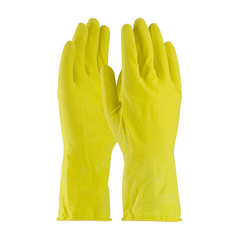 PIP® Assurance® Unsupported Latex Glove - Flock Lined w/Honeycomb Grip - 14 Mil - Unisex - Yellow