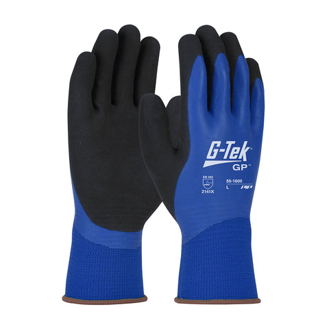 PIP® G-Tek® GP™ Waterproof Seamless Knit Polyester Glove w/Latex Coated MicroSurface Grip - 55-1600