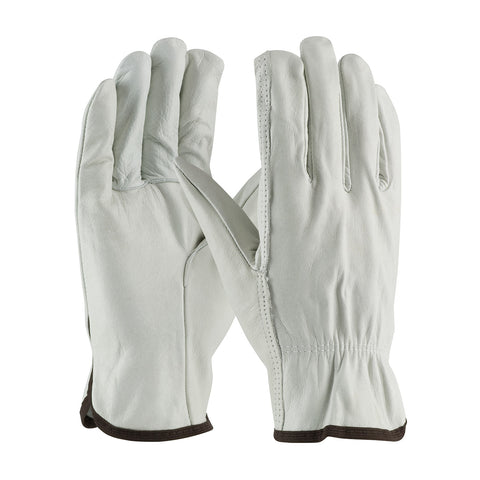 PIP® Regular Grade Top Grain Cowhide Leather Drivers Glove - Straight Thumb - Unisex -White