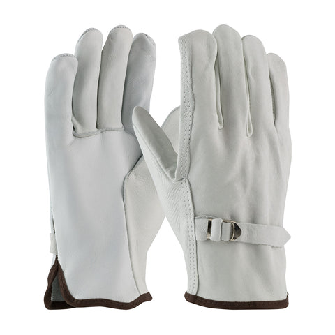 PIP® Superior Grade Top Grain Cowhide Leather Drivers Glove w/Pull Strap Closure - 68-158