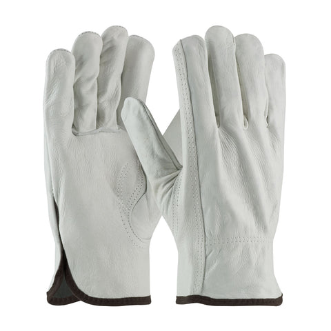 PIP® Regular Grade Top Grain Cowhide Leather Drivers Glove - Keystone Thumb - Unisex - White