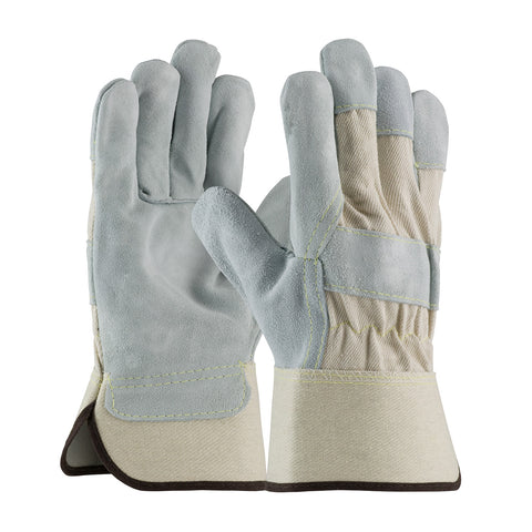 PIP® Heavy Side Split Cowhide Leather Palm Glove w/Canvas Back & Kevlar Stitching - 80-8800