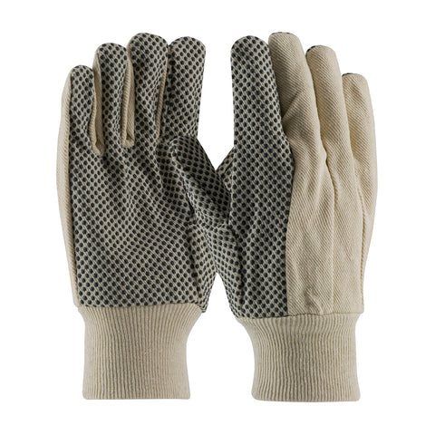 PIP® Premium Grade Cotton Canvas Glove w/PVC Dot Grip - 91-908PD