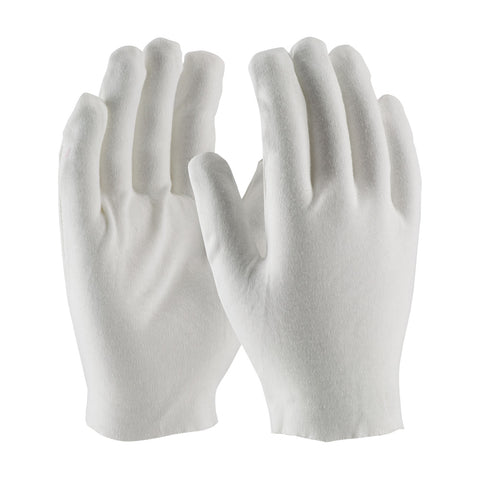 PIP® CleanTeam® Heavy Weight Cotton Lisle Inspection Glove w/Unhemmed Cuff - Men's - White