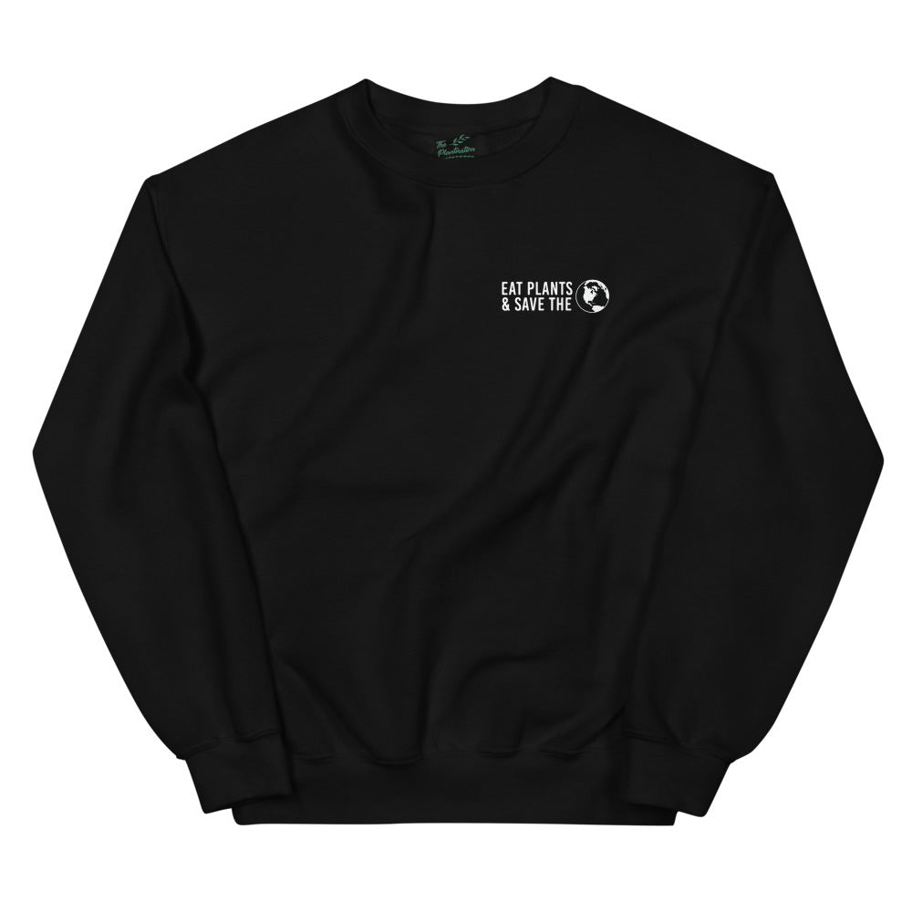 Eat Plants & Save The World | Organic Sweatshirt - theplantnation