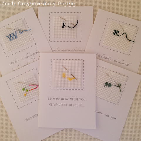 Expressions of Friendship... Needlepoint Note Cards