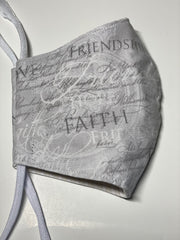 Faith & Friendship Cotton Face Mask