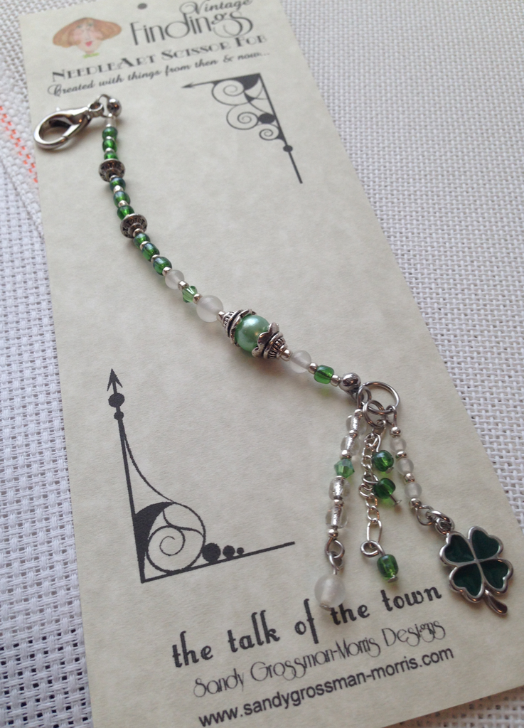 Luck 'o the Irish Scissor Fob