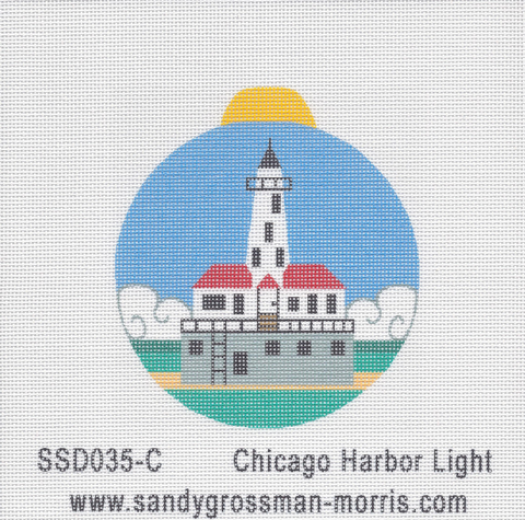 Chicago Harbor Light Ornament