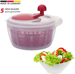 "Westmark ""Fortuna"" Salad Spinner Red/clear"