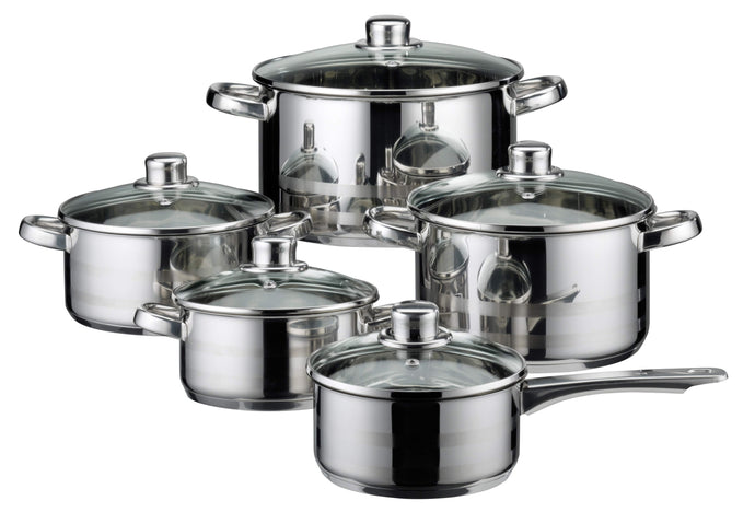 Elo Germany Skyline Stainless Steel Induction Cookware Set, 10 Piece