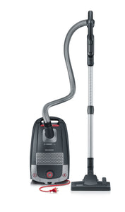 Severin S'Power Zelos Bagged Canister Vacuum Cleaner, Midnight Black