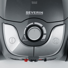 Severin Germany Bagged Canister Vacuum Cleaner, Platinum Grey