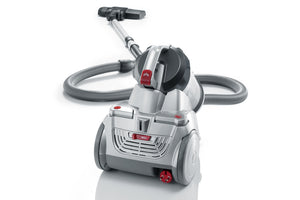 Severin Germany NonstopXL Bagless Canister Vacuum Cleaner, Polar Silver