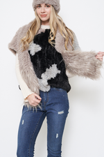 Load image into Gallery viewer, Bunny Hop Fur Edge Scarf