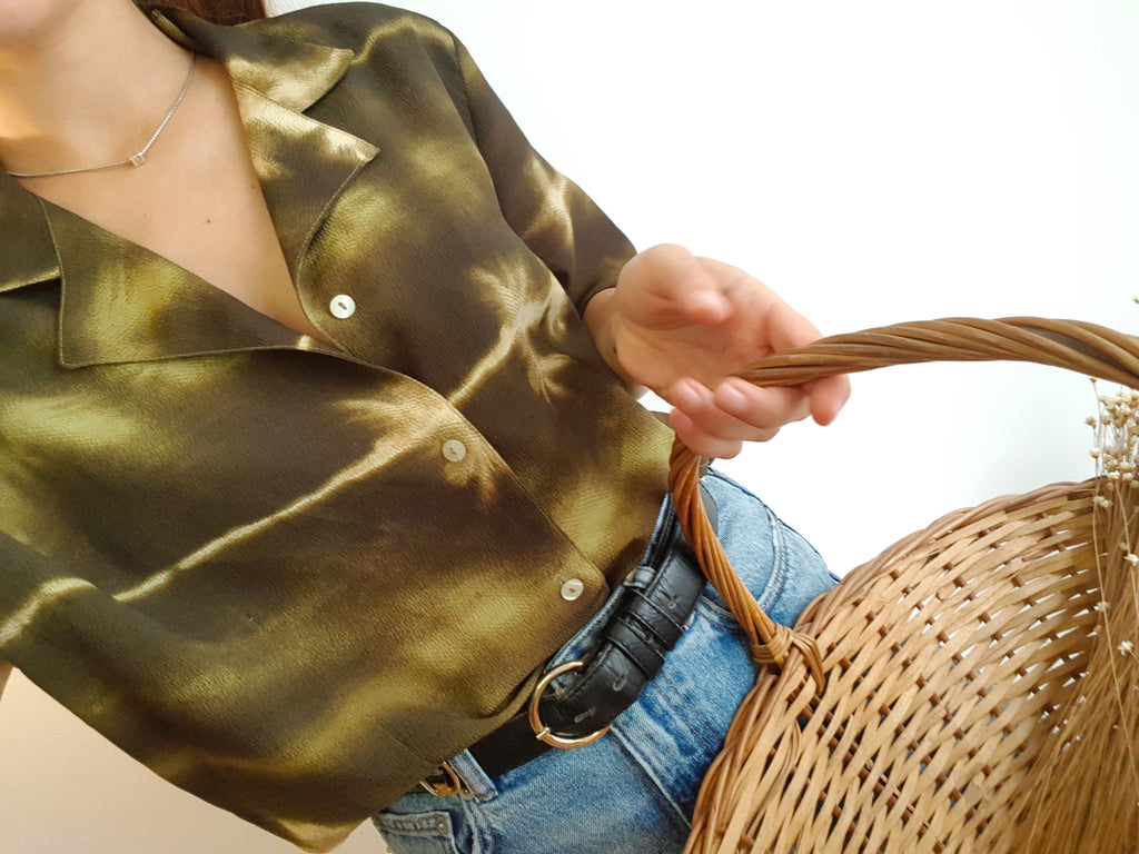 Vintage Green shirt with Stains